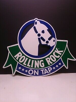 "Vintage Rolling Rock Beer Tin On Tap Bar Sign 1993 NEW 16"" x 20"" Latrobe brewing"