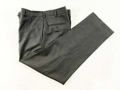 Recent BROOKS BROTHERS 1818 Regent Mens Wool Flat Front Dress Pants Gray 37x28