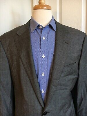 Hickey Freeman Addison Suit - Loro Piana Gray Wool - Men's 46 L - USA Canvassed