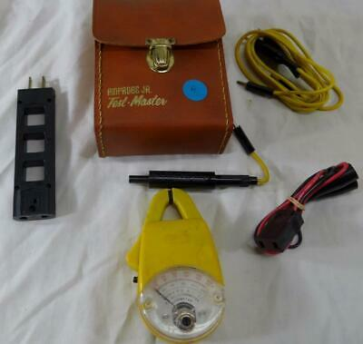 Vintage Amprobe Jr. YO-500 Clamp Meter + Accessories & Case (A)