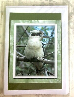 Handmade Kookaburra Photo Blank Card