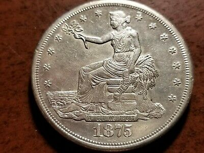 1875 S Silver Trade Dollar, full bold liberty     INV03   S320