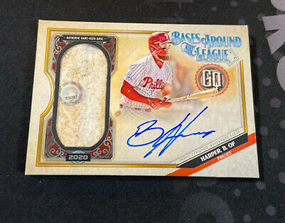 2020 Topps Gypsy Queen Bryce Harper Bases Around The League Relic Auto /20 SSP