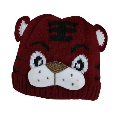 1pc Baby Girls Boys Kids Toddlers Crochet Knit Cute Tiger Hat Cap Beanie Bo T3O7