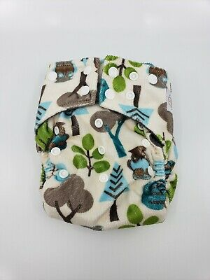 Happy Flute charcoal bamboo all in one cloth diaper - Trees