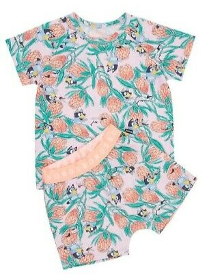 Bonds X Bluey limited edition pyjamas pjs size 5 BNWT pink sold out rare