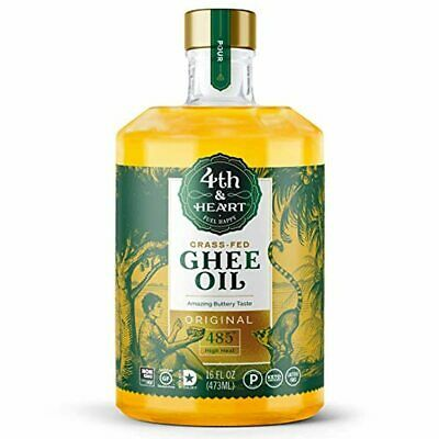 Original High Heat Cooking Oil by 4th & Heart | Blend of Grass-fed Ghee, Avocado