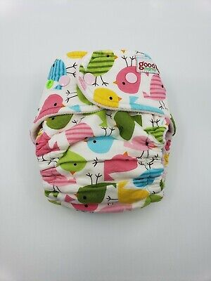 Good Mama Fitted cloth Diaper Very HTF Limited Edition birds
