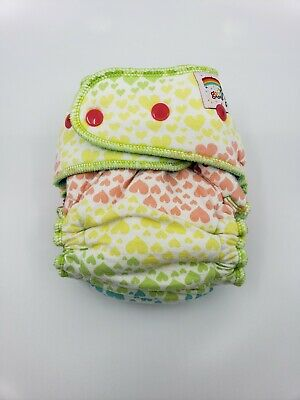 Good Mama Fitted cloth Diaper Very HTF Limited Edition colorful hearts