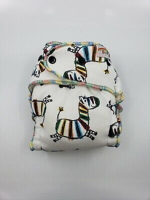 Good Mama Fitted cloth Diaper Very HTF Limited Edition zebra toddler size