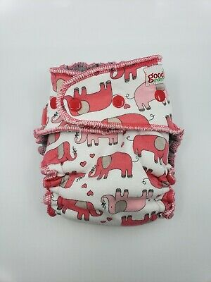 Good Mama Fitted cloth Diaper Very HTF Limited Edition pink elephants
