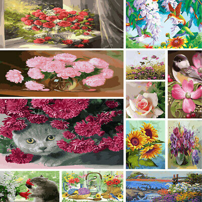 DIY Paint By Number Kit Digital Acrylic Oil Painting Home Drawing Floral Create