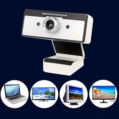 High Definition Camera w/ Microphone 360° Webcam USB2.0 Built-in Noise Reduction