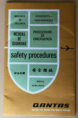 Vintage Qantas Safety Procedures Booklet 1950'S