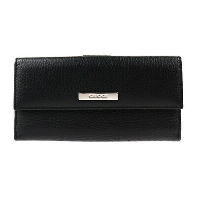 GUCCI wallet  143389 leather black Double Sided purse