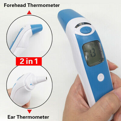 IR Infrared Forehead Ear Thermometer Gun fever Body Temperature Measurement Baby