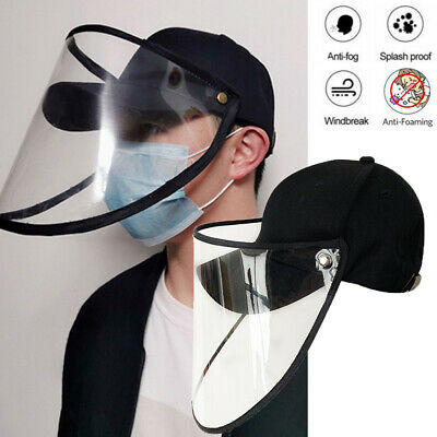Hat-Mounted Transparent Hat Anti-fog Saliva Face Shield Eye Protective 2020