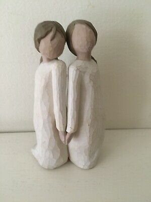 Willow Tree Quietly 2002 Susan Lordi Ornament Figurine two alike twins sisters