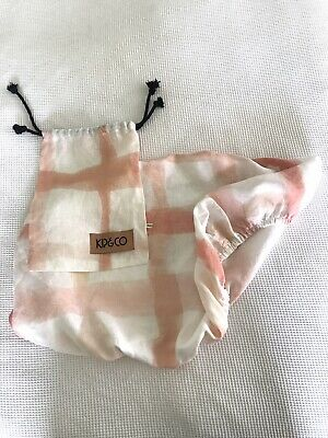 Kip And Co Linen Bassinet Fitted Sheet - Pink Watermark