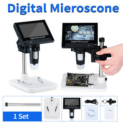 """1000X 4.3""""inch LCD Digital Microscope 720P 8 LEDs Magnifier USB 2.0 With Holder"""