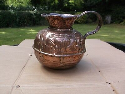 Arts & Crafts Hand Made Copper Jug