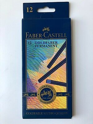 New Boxed Faber Castell 12x Goldfaber Permanent Coloured Pencils Special Edition