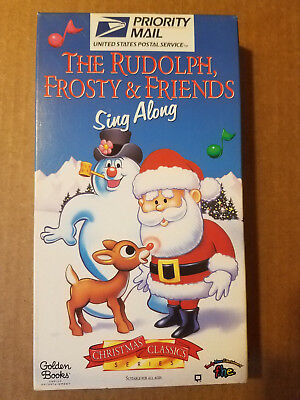 THE RUDOLPH, FROSTY & FRIENDS SING ALONG VHS 1996 USPS promo Golden FHE Live