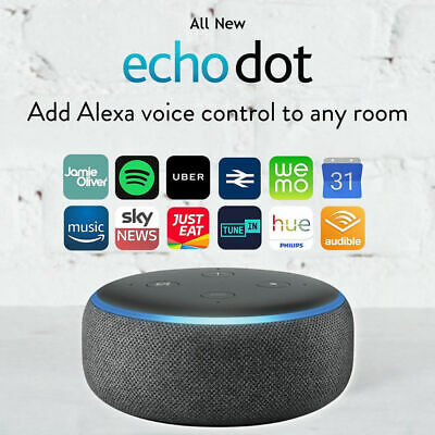 Amazon Echo Dot 3rd Generation Smart speaker With Alexa - Charcoal Black NEW