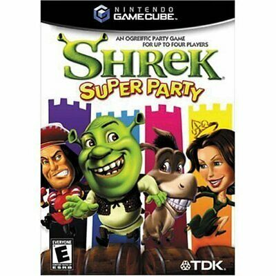 Shrek Super Party Nintendo Gamecube GBC Video Game UK Release