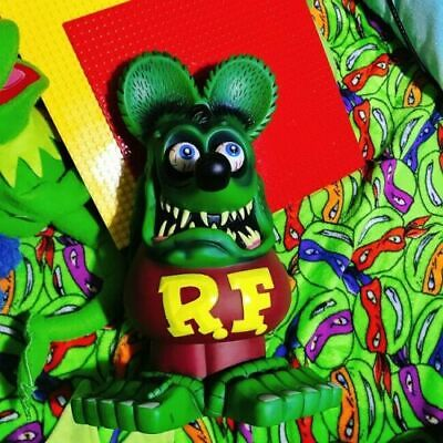 """13/"""" Fluorescent Green RAT FINK Action Figure Big /""""Daddy/"""" Ed Roth Gift Toy"""