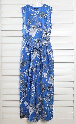 J.CREW $158 Linen Wrap-Back Lined Jumpsuit in Ratti Tropical Toile Size 2