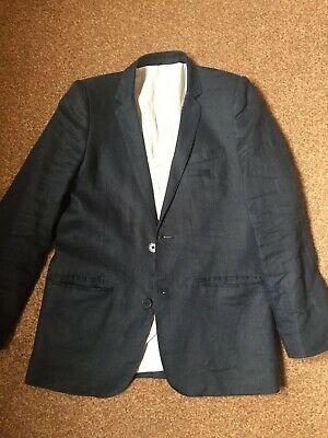 Boys Marks And Spencer Autograph Blue Linen Suit Aged 11-12