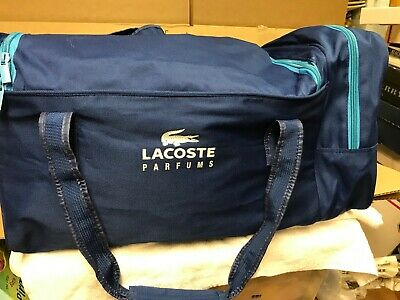 Lacoste Parfums carrying gym workout weekend travel duffle bag