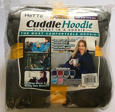 Cuddle Hoodie. Blanket in a Hoodie -Charcoal Grey -Reversable One Size Fits All