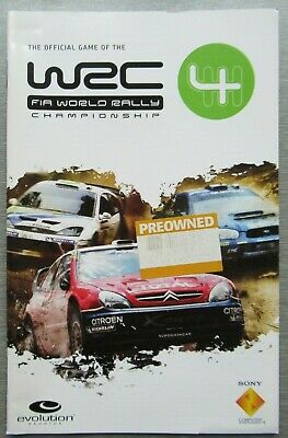 VGC PS2 Playstation Game Manual - F1A WRC Championship 4 - NOT DISC