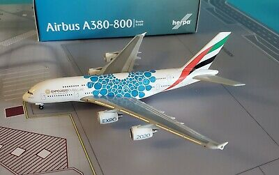 Herpa Wings 1:500 Airbus A380 Emirates Expo 2020 Dubai 'Mobility' livery