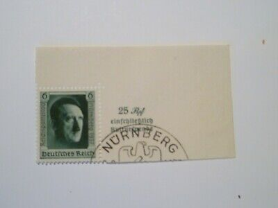 1937 Hitler's Culture Fund & 48th Birthday part Miniature sheet used