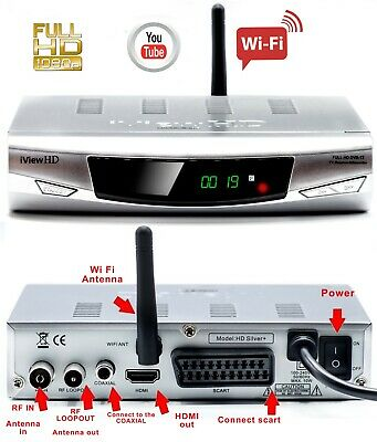 Freeview HD Built in WiFi Receiver & Recorder DIGITAL TV Set Top Box Terrestrial