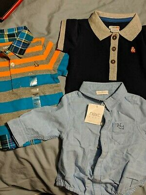 * BNWT *  Next, Gap & Mamas & Papas - Polo T-shirts excellent bundle.