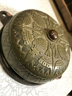 Ea 11 Antique Brass Very Cool Victorian Doorbell Housing/cast Iron Back/Mount