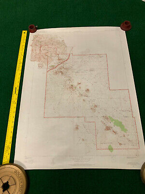 CRATERS OF THE MOON, IDAHO TOPOGRAPHIC MAP 1957  VINTAGE Geologic Survey hiking