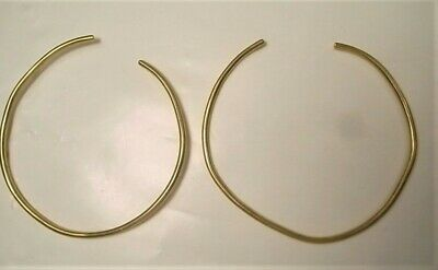 Ancient pair of solid gold bracelets Greek Phoenician or Near Eastern I mil BC