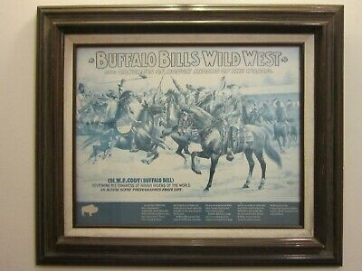 "Vintage Reproduction Print Of ""Buffalo Bills Wild West"" Poster"