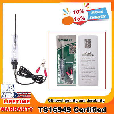 Car Voltage Circuit Tester DC 6-12V System Long Probe Continuity Auto Light Test