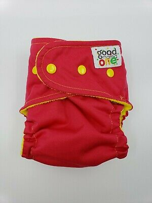 Good Mama Fitted cloth Diaper Very HTF Limited Edition Pink and yellow