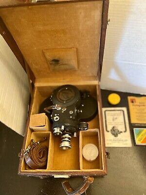 Vintage Victor Cine' 16mm Aircraft Type Camera Model 4 with Case & Instructions