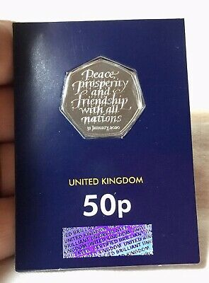 2020 Brexit 31st January Fifty pence Coin 50p Cert Brilliant Uncirculated