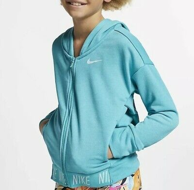 Nike Girls Full-Zip Training Hoodie Jacket AR0444-309 Size XL 13-15 Years New