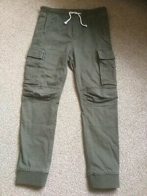 H&M Green Khaki Combat Jogger Trousers  -  Age 11-12 Years
