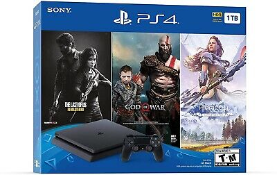 PS4 PlayStation 4 Slim ONLY ON BUNDLE (1TB) Console w/ Controller [BRAND NEW]